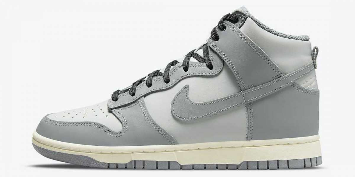 Nike Dunk High Grey White DD1869-001 The most classic smoky gray!